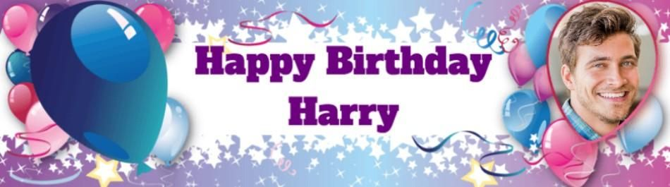 Photo Upload Birthday Card With Balloons For Under 12s