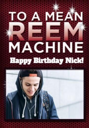 Photo Upload Mean Reem Machine Towie Birthday Card