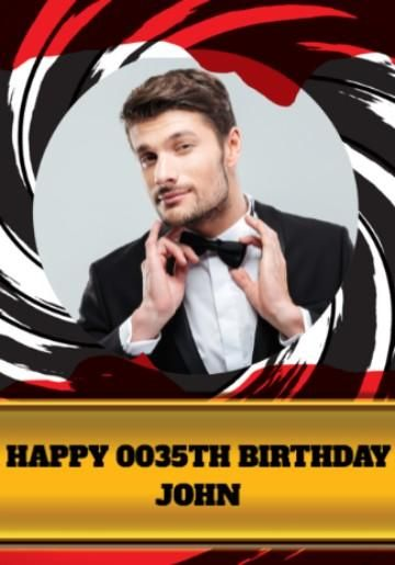 Happy Birthday 007 Licensed To Thrill Party Banner