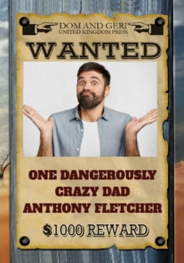Photo Upload Wanted Poster Crazy Dad Birthday Card
